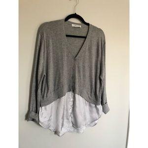 Zara Oversized Dress Shirt Cardigan